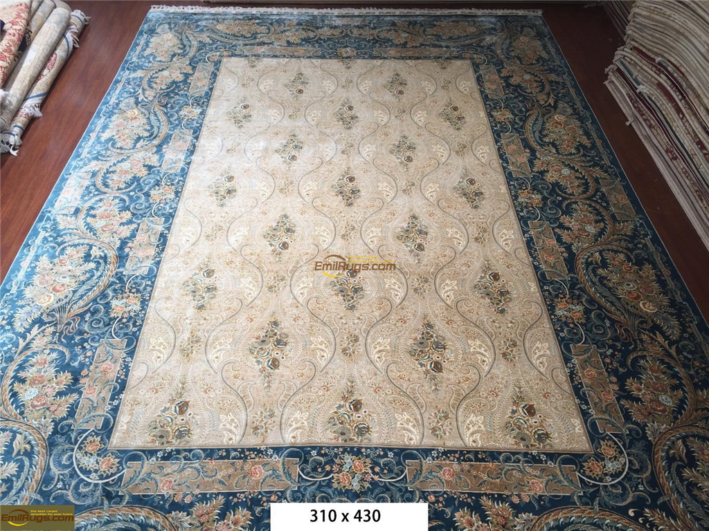 Chinese Silk Rugs Handmade Silk Carpets Hand Knotted Silk
