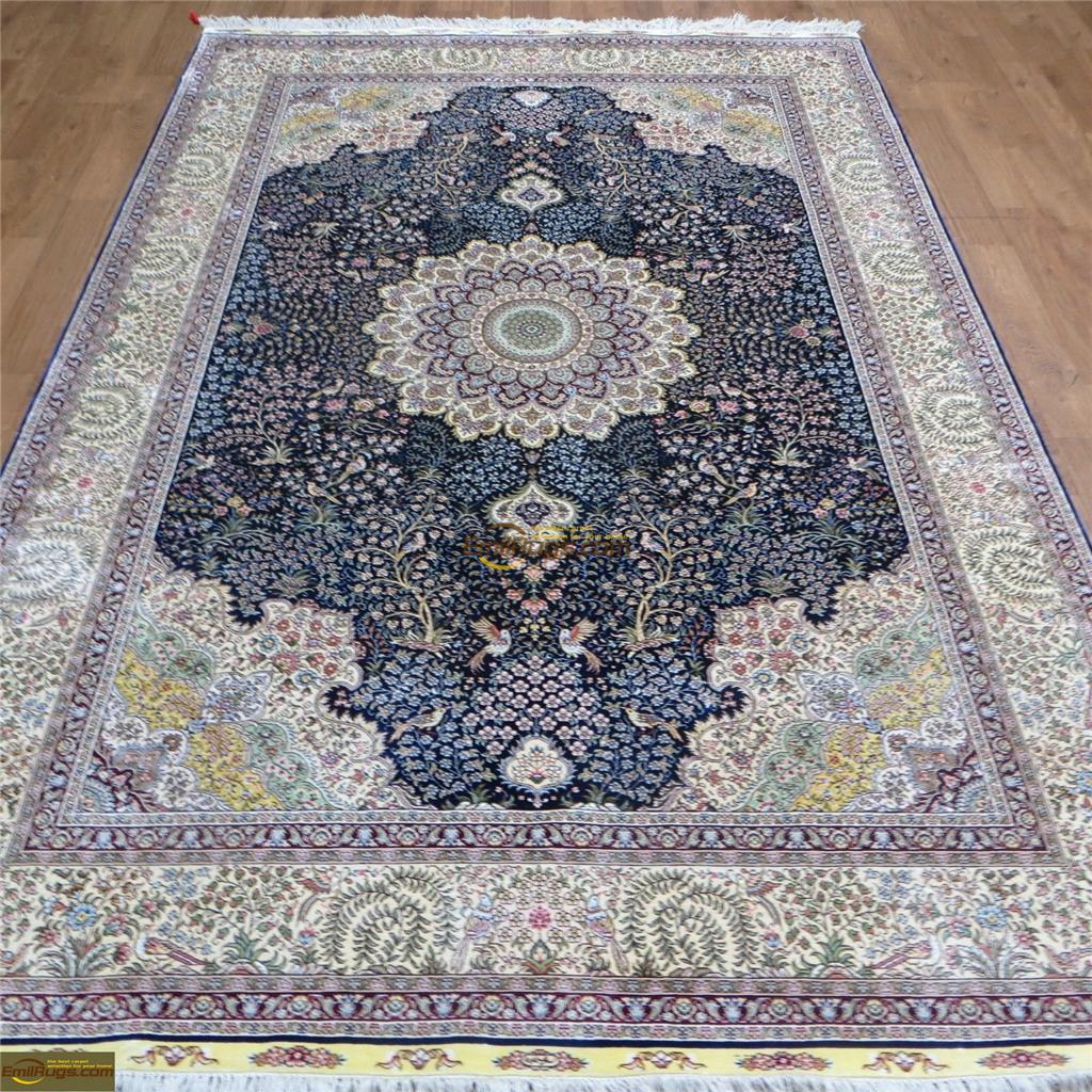 silk rugs 6x92