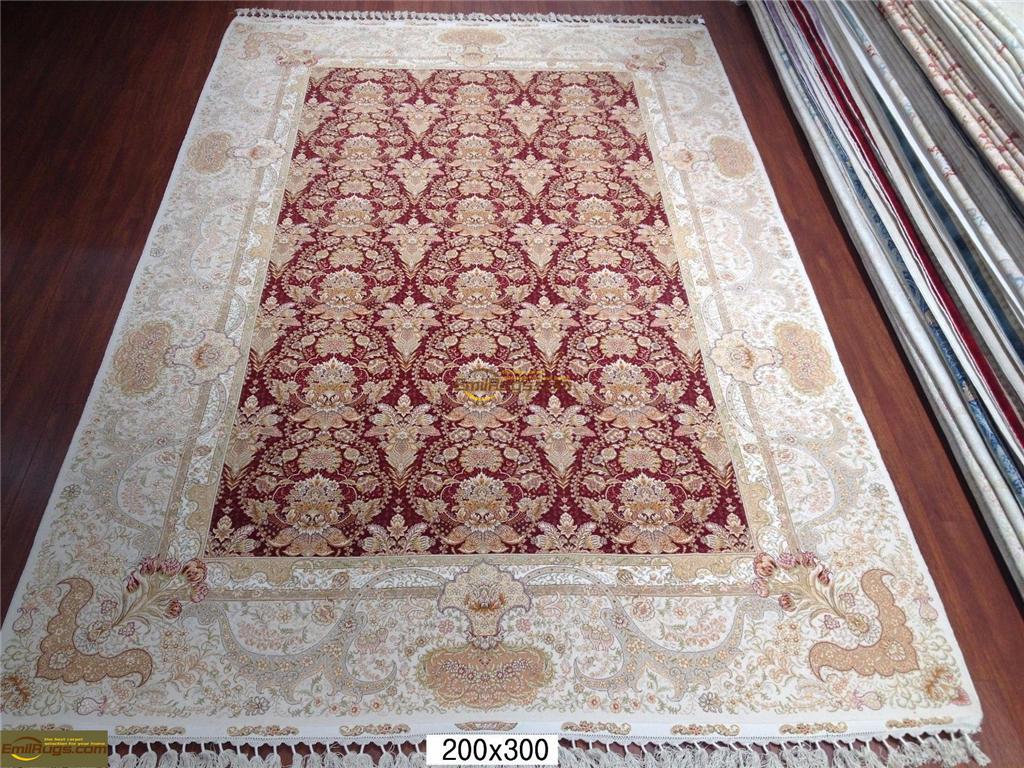 silk rugs 6x98