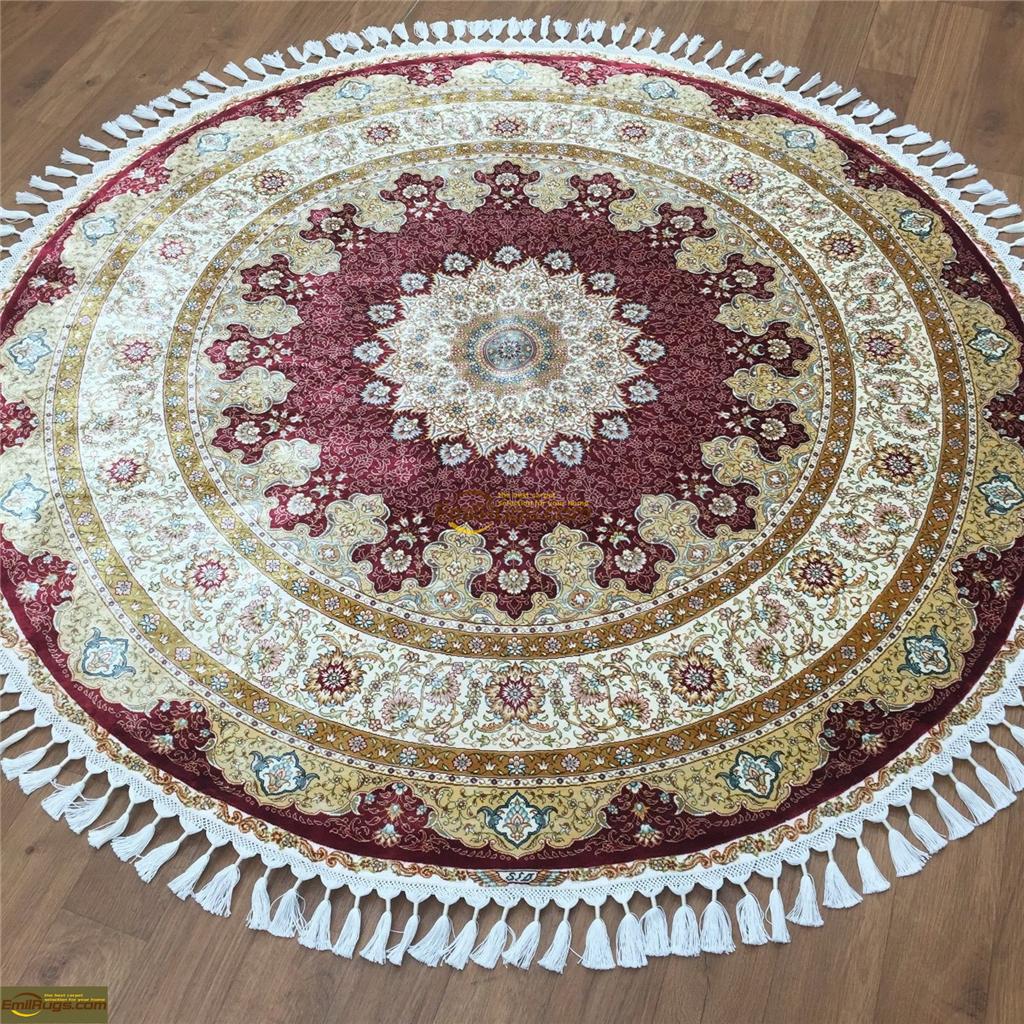 silk rugs round2