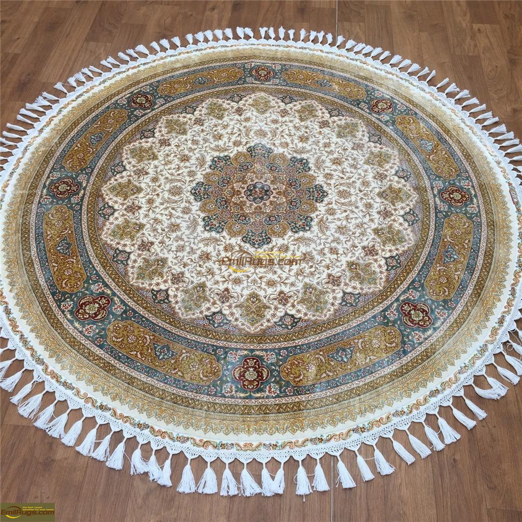 silk rugs round3