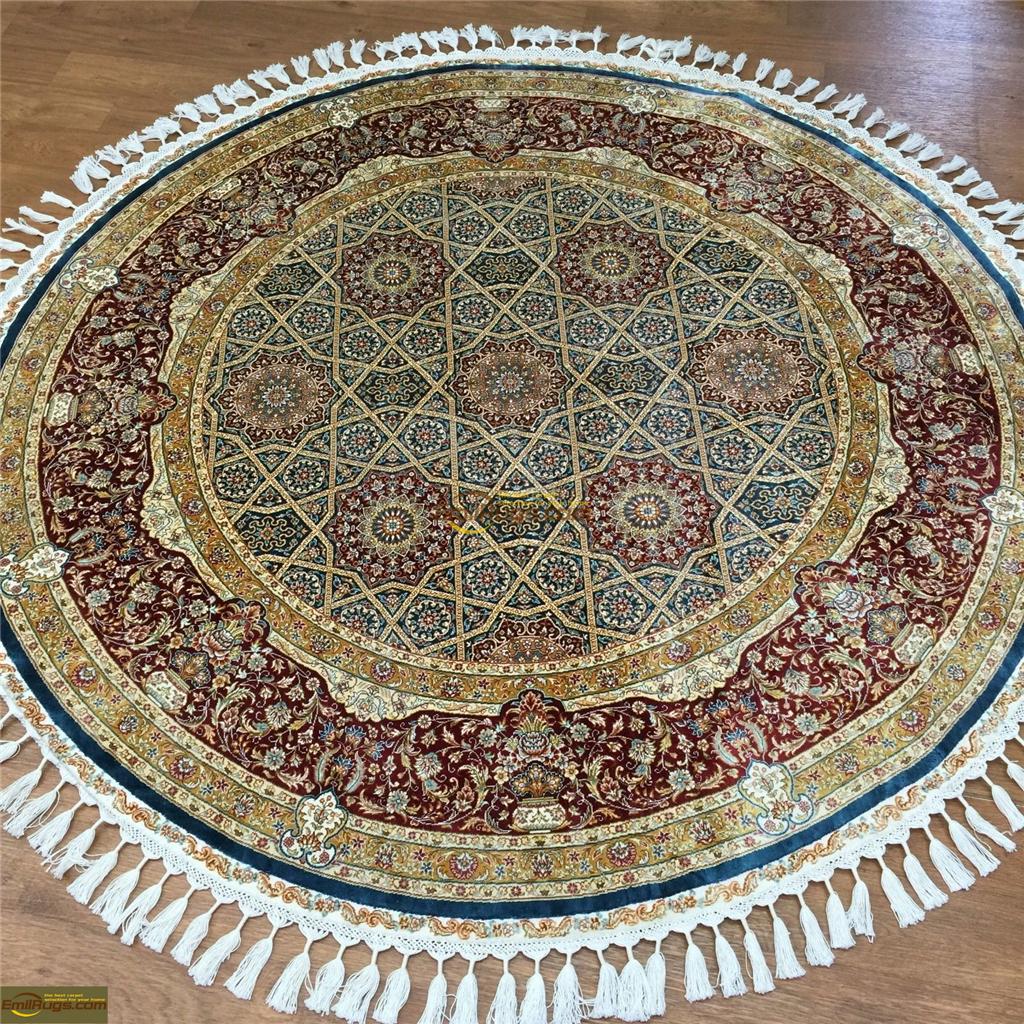 silk rugs round5