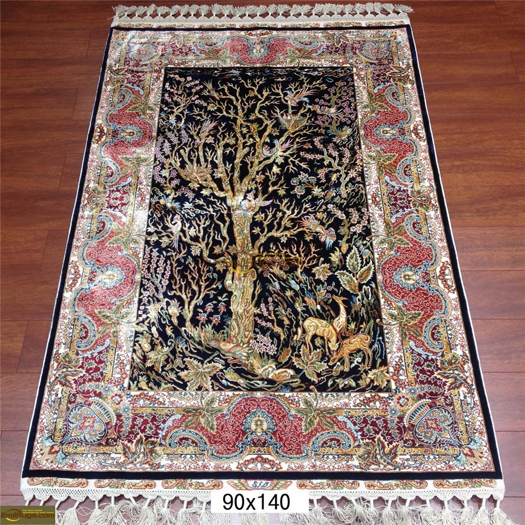 silk rugs small size4