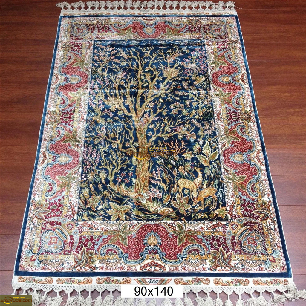 silk rugs small size6