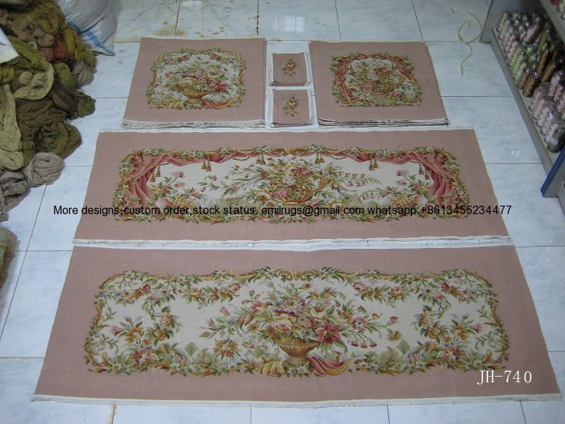 JH-740.4pink field wool and silk