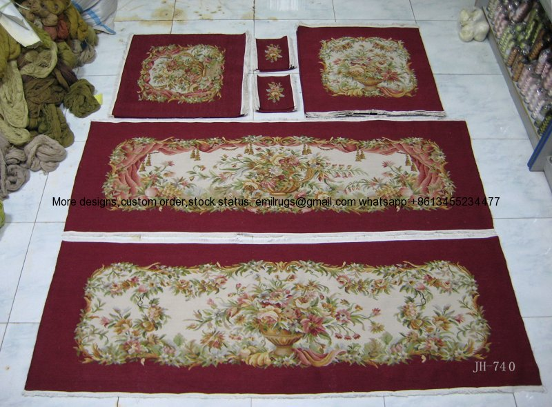 JH-740.5purple red wool and silk