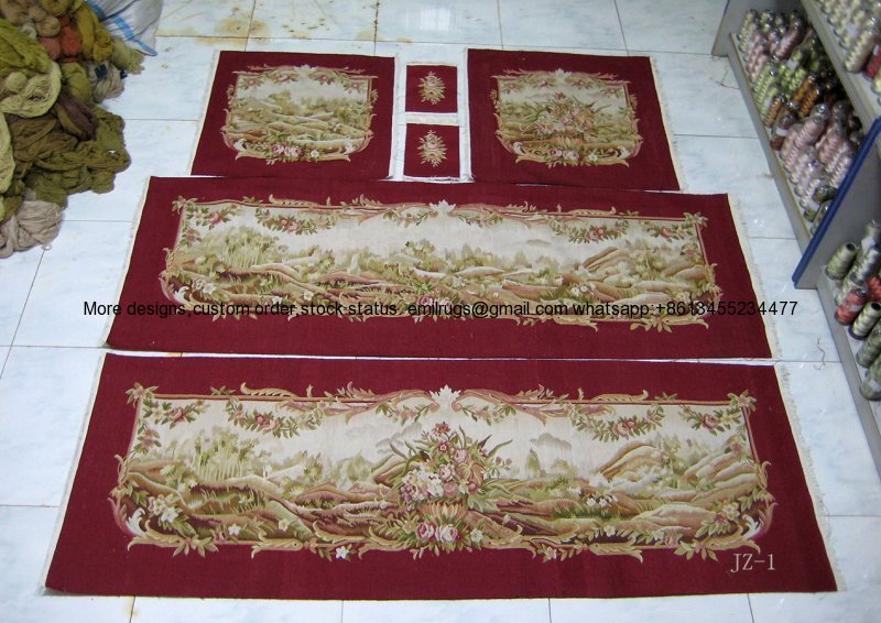 A1-7JZ-1red field wool and silk mixed woven